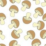 teste padrão do cogumelo sem emenda Foto de Stock Royalty Free