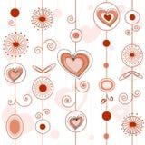 Teste padrão do conceito do amor ilustração do vetor