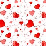 Teste padrão do coração ilustração stock