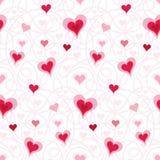 Teste padrão do coração ilustração royalty free
