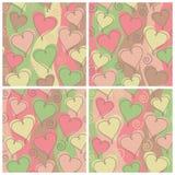 Teste padrão do coração, aniversário ilustração royalty free