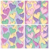 Teste padrão do coração, aniversário dos miúdos ilustração stock