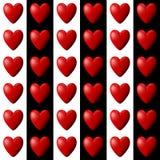 Teste padrão do coração com listras de Vertival Fotografia de Stock Royalty Free