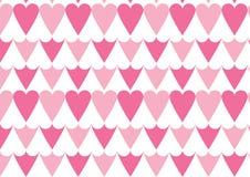 Teste padrão do coração no rosa Fotografia de Stock