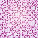 Teste padrão do coração sem emenda Fotografia de Stock Royalty Free
