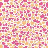 Teste padrão do coração sem emenda Ilustração Stock