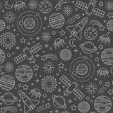 Teste padrão do cosmos ilustração royalty free