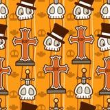 Teste padrão do crânio de Halloween ilustração royalty free