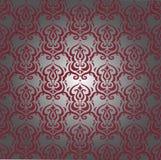 Teste padrão do damasco de Borgonha Imagem de Stock Royalty Free