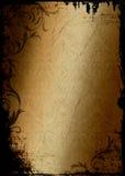 Teste padrão do damasco do fundo de Grunge Imagem de Stock