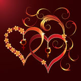 Teste padrão do dia de St.Valentine Fotos de Stock