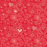 Teste padrão do dia de Valentim com coração Fotos de Stock