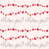 Teste padrão do dia de Valentim com coração ilustração royalty free