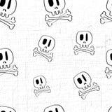Teste padrão do divertimento do crânio Imagens de Stock Royalty Free