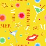 Teste padrão do divertimento do verão Fotografia de Stock