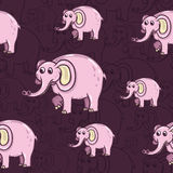 Teste padrão do elefante Foto de Stock