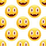 Teste padrão do emoticon do vampiro Foto de Stock