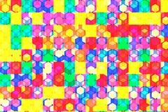 Teste padrão do enigma do cubo ilustração stock