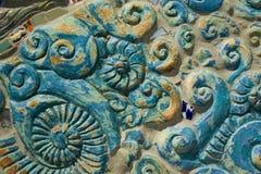 Teste padrão do escudo do mar Imagens de Stock