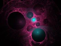 Teste padrão do espaço. Abstracção em um fundo preto. Foto de Stock Royalty Free