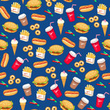 Teste padrão do fast food Imagem de Stock