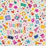 Teste padrão do feliz aniversario Foto de Stock
