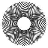 Teste padrão do fio da ilusão óptica fotografia de stock
