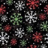 Teste padrão do floco de neve do Glitter ilustração stock