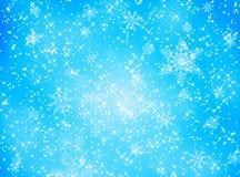 Teste padrão do floco de neve e de estrela ilustração royalty free