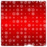 Teste padrão do floco de neve no cartão envelhecido Fotografia de Stock Royalty Free