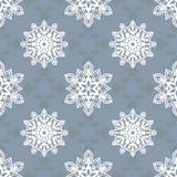 Teste padrão do floco de neve - teste padrão do floco de neve Imagens de Stock