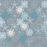 Teste padrão do floco de neve - teste padrão do vetor do floco de neve Imagens de Stock Royalty Free
