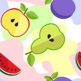 Teste padrão do fruto de PrintTasty na linha Imagens de Stock Royalty Free