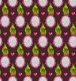 Teste padrão do fruto do dragão Imagens de Stock Royalty Free