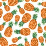 Teste padrão do fruto dos abacaxis sem emenda ilustração stock