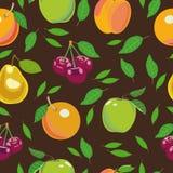 Teste padrão do fruto sem emenda imagens de stock