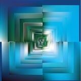 Teste padrão do fundo azul do mosaico da cor Vetor Fotografia de Stock Royalty Free