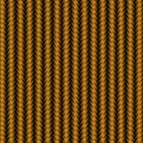 Teste padrão do fundo do carbono do metal do ouro ilustração stock