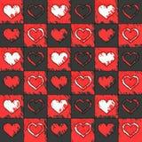 Teste padrão do fundo com corações Fotografia de Stock Royalty Free