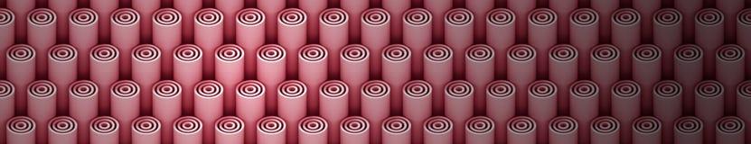 teste padrão do fundo 3d dos tubos leves do vermelho 3d Imagem de Stock Royalty Free