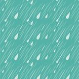 Teste padrão do fundo da chuva Imagens de Stock Royalty Free