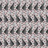 Teste padrão do fundo da dança dos pavões Imagens de Stock