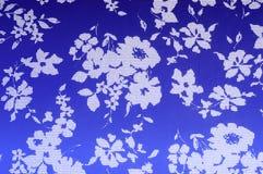 Teste padrão do fundo da textura Azul do algodão de pano nos tons brancos Ab Fotos de Stock Royalty Free