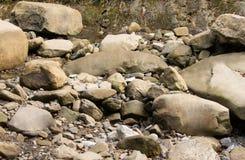 Teste padrão do fundo da textura das pedras Imagens de Stock
