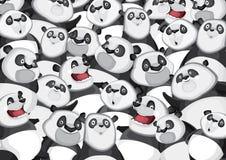 Teste padrão do fundo das pandas Imagens de Stock Royalty Free