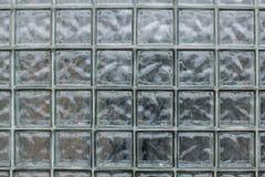 Teste padrão do fundo de vidro da parede do bloco da textura imagens de stock