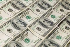 Teste padrão do fundo do dinheiro Fotos de Stock