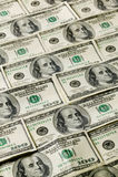 Teste padrão do fundo do dinheiro Imagens de Stock