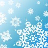Teste padrão do fundo do floco de neve Fotos de Stock