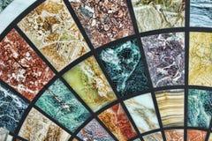 Teste padrão do fundo do mármore diferente Fotos de Stock Royalty Free